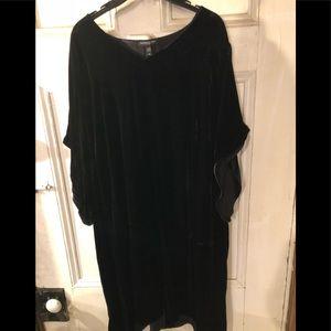 Eileen Fisher Velvet Shift Dress Size 3X